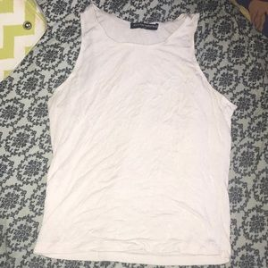 Brandy Melville White Crop Top (size small)